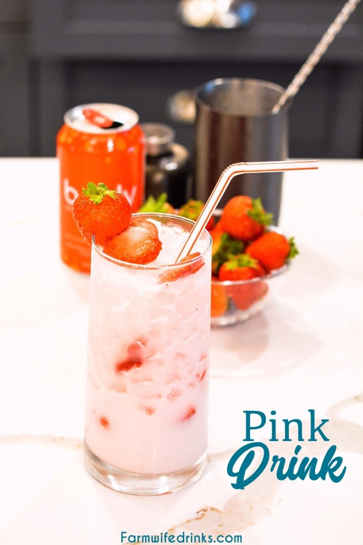 Copycat Starbucks pink drink is a simple combination of cream of coconut, freeze-dried strawberries, fresh strawberries, and sparkling strawberry water makes this drink simple yet refreshing to make.