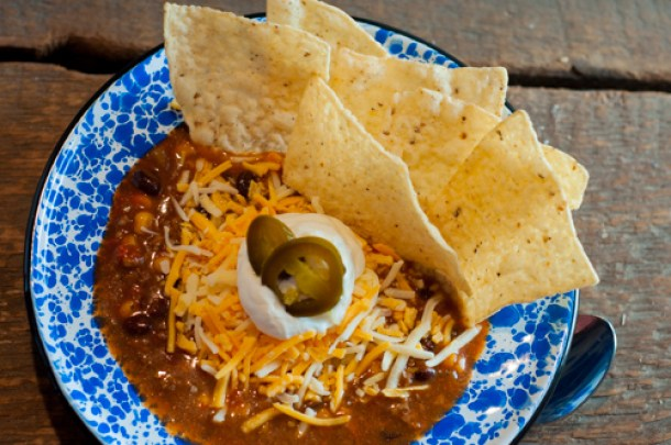 Crockpot Beef Taco Soup, stovetop or crockpot a super easy go to meal.