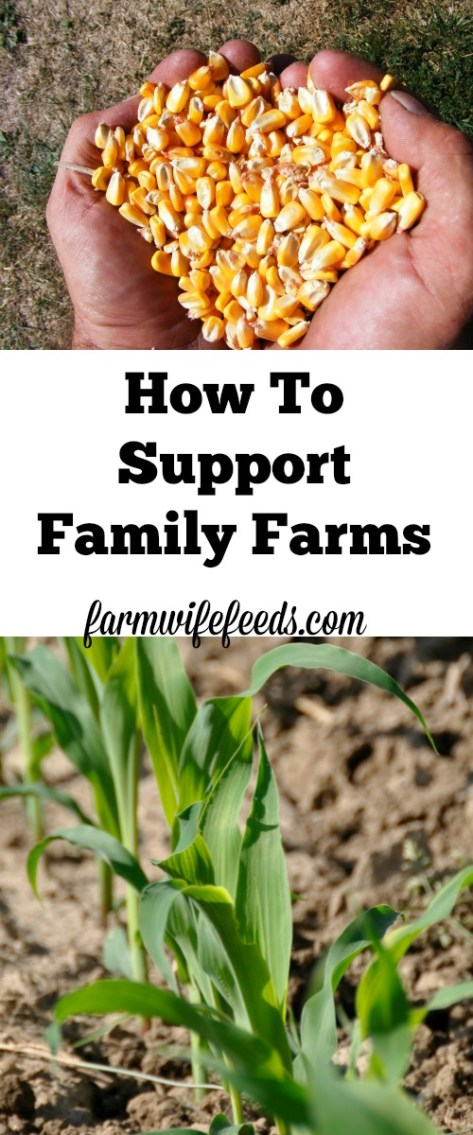 Supporting family farms in the US.