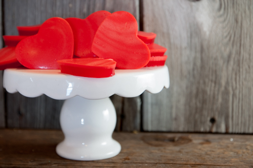 Easy Valentine's Finger Jello - kid easy and fun to eat!