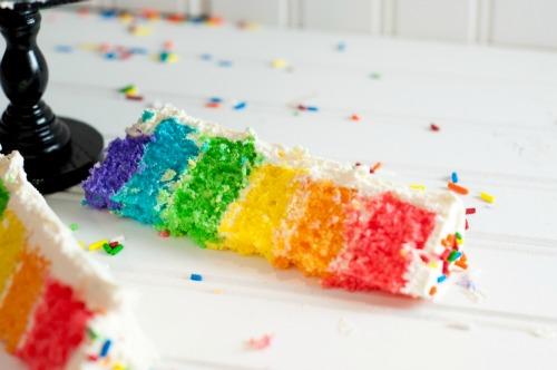 Rainbow Cool Whip Mini-Cakes - fun, easy rainbow dessert that kids love!