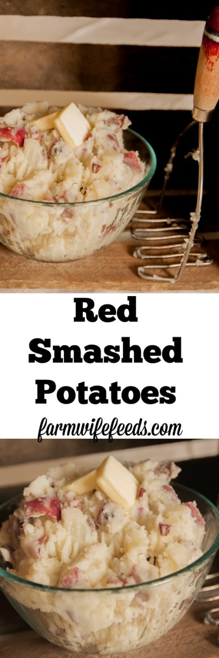 These Red Smashed Potatoes are an easy ideal side dish for most any meal! Easiest side dish recipe ever!