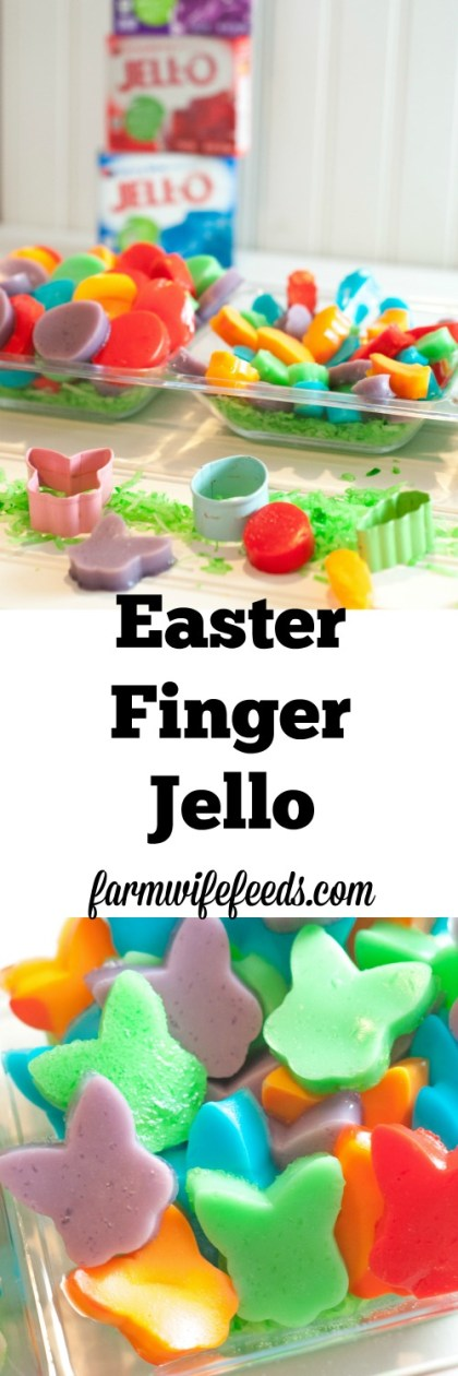 Easter Finger Jello is super fun and a super easy recipe that kids will love to help make and eat!