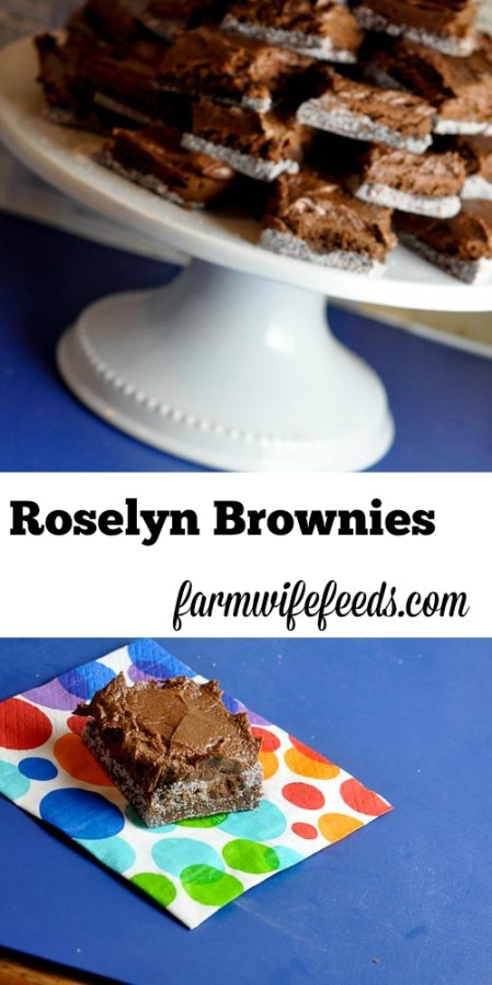These bakery style brownies are the best homemade brownies you will ever make - Roselyn Bakery Brownies at your fingertips!