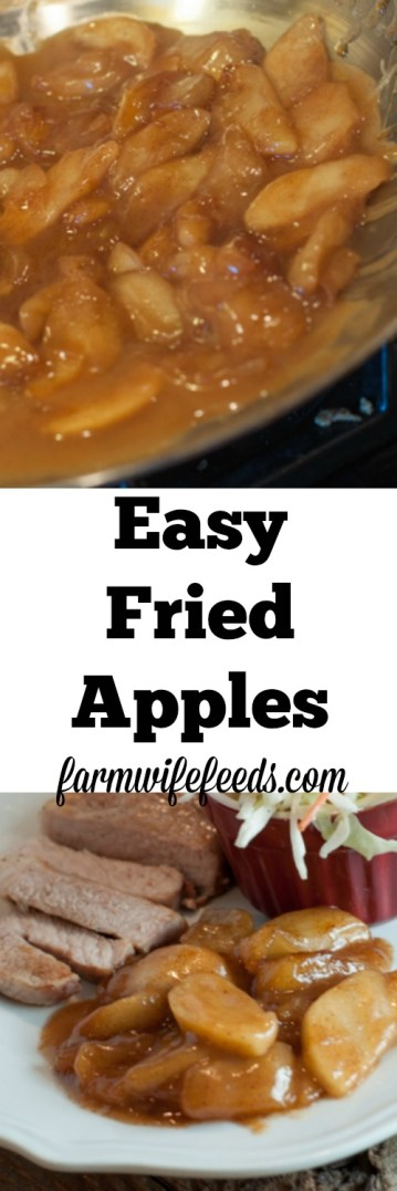 Easy Fried Apples are delicious side dish or a great dessert!
