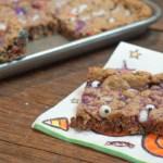 Halloween Monster Cookie Bars