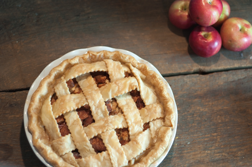 God Bless America and Mother's Apple Pie - this traditional apple pie has a twist with a creamy base layer that sweetens this pie right up!