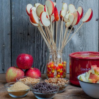 Caramel Apple Dip, serve warm with apple slices from Farmwife Feeds #recipe #crockpot #apples