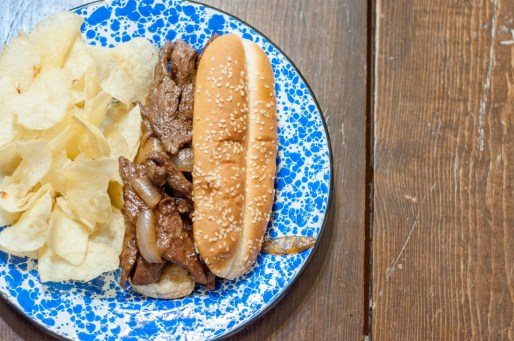 Sliced Steak Sandwiches from Farmwife Feeds are a hearty meal in sandwich form. #recipe #steak #sandwich #beef