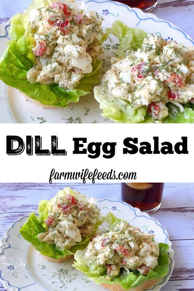 Dill Egg Salad from Farmwife Feeds is not your everyday egg salad but a simple easy recipe. #recipe #eggs #dill