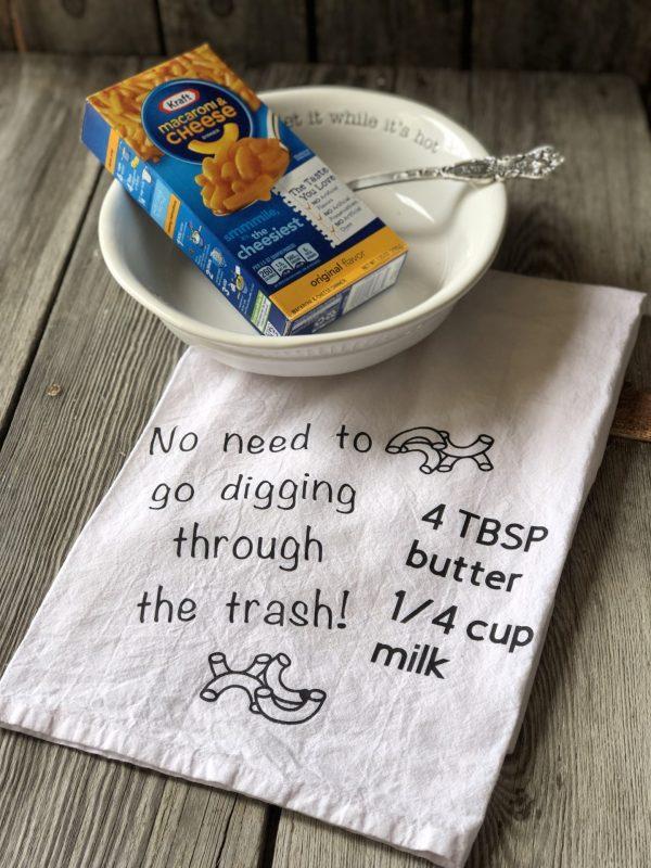 Kraft Dinner Ingredients Kitchen Towel