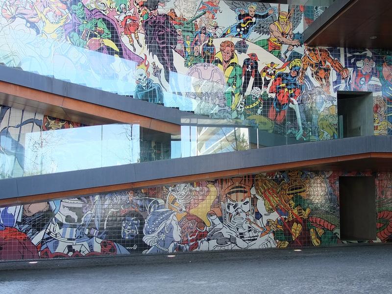 Marvel e DC em mural em Lisboa - Parque das Nações - Mural - Portugal - Blog Farofeiros