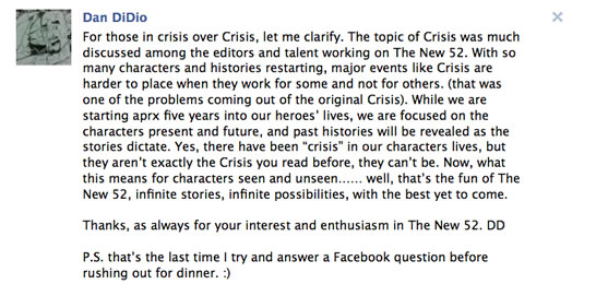 Sem crise!