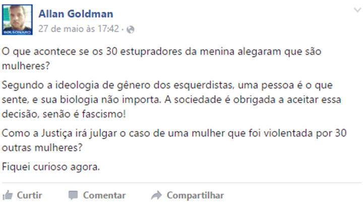 Allan Goldman no Facebook