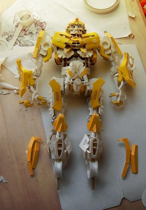 O papelão que virou o BumbleBee - Transformers - 2 - Blog Farofeiros