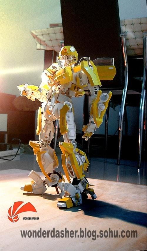 O papelão que virou o BumbleBee - Transformers - 3 - Blog Farofeiros