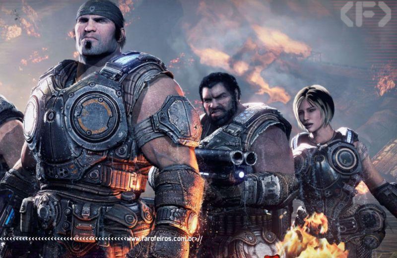 Meu Xbox 360 - Gears of War 3 - Blog Farofeiros