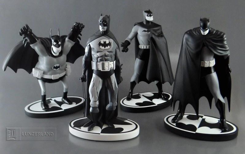 Batman Black & White Sergio Aragonés - Mike Mignola - Darwyn Cooke - David Mazzuchelli - DC Direct - Blog Farofeiros