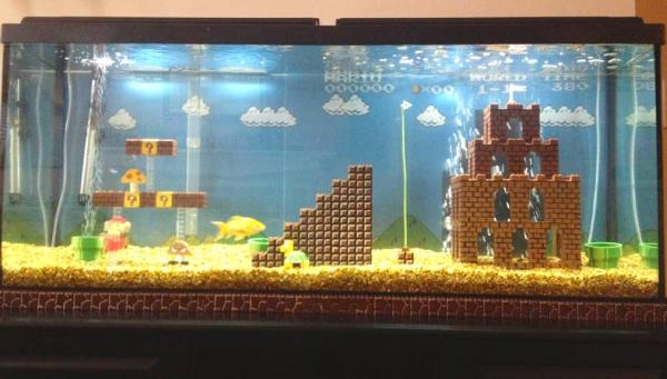 Quero um aquário do Super Mario