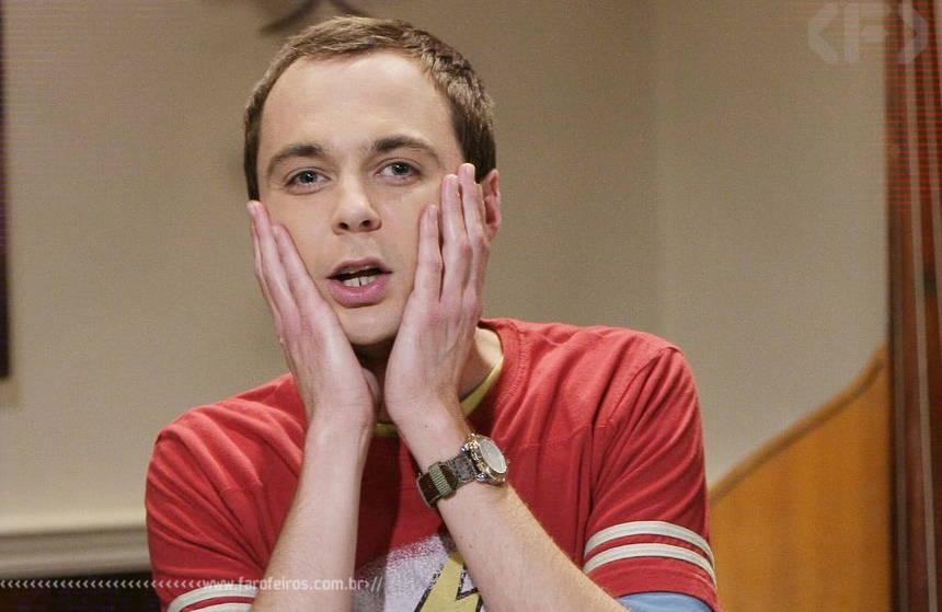 Sheldon chocado - Piadas para a festa de confraternização - Blog Farofeiros