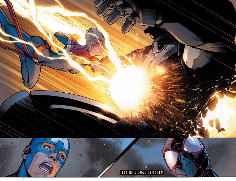 Capitão América, Capitã Marvel e Miles Morales  - Guerra Civil II: Tony Stark está morto?