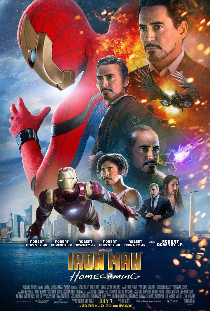 Arrumaram o poster do novo filme do Homem Aranha - Blog Farofeiros - Homem de Ferro - Homecoming