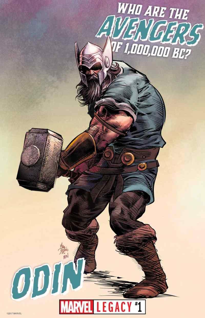 Quem são os Vingadores de 1.000.000 a.C.? - Odin, mas podia ser o Thor também.