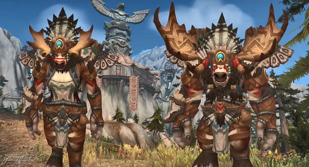 World of Warcraft na Blizzcon 2017 - Highmountain Tauren - Raças Aliadas