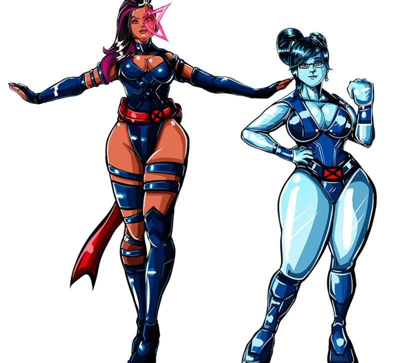 Overwatch com visuais dos X-Men - Sombra e Mei- Blog Farofeiros