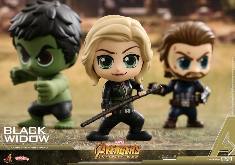 Cosbabys de Guerra Infinita - Hulk, Viúva Negra e Capitão América