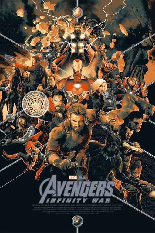 O melhor da Marvel na SDCC 2018 - Vingadores - Guerra Infinita - Poster por Matt Taylor