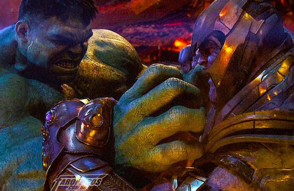 Thanos usou a Jóia da Força contra Hulk - Vingadores - Guerra Infinita - Blog Farofeiros