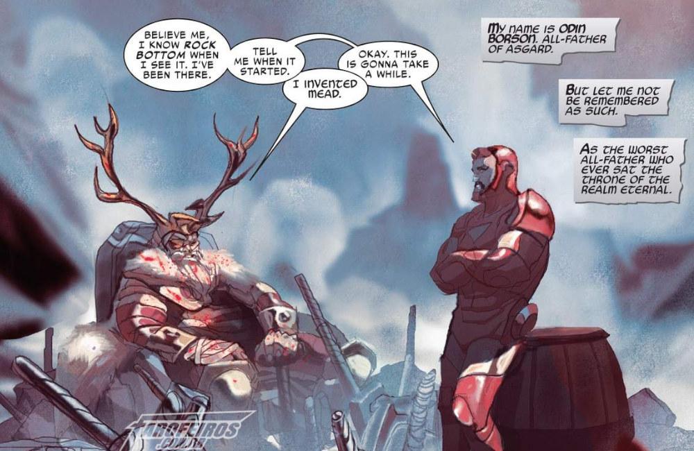 Outra Semana nos Quadrinhos #6 - Thor #10 - Odin - Homem de Ferro - Blog Farofeiros