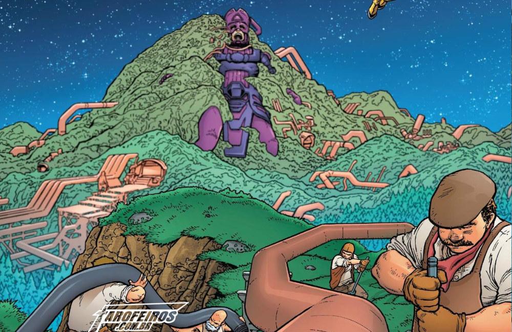 Outra Semana nos Quadrinhos #10 - Fantastic Four #8 - Quarteto Fantástico - Galactus - Blog Farofeiros