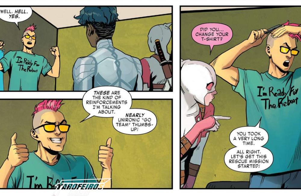 Outra Semana nos Quadrinhos #9 - West Coast Avengers #9 -Vingadores da Costa Oeste - Gwenpool - Quentin Quire - Blog Farofeiros
