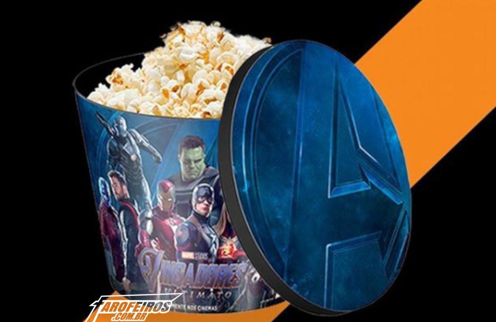 O maldito balde de pipoca de Vingadores - Ultimato - Itaú Cinemas - Balde Raíz - Blog Farofeiros