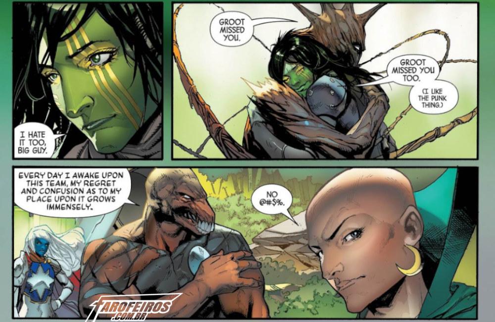 Outra Semana nos Quadrinhos #13 - Guardians of the Galaxy #4 - Groot punk - Gamora - Bill Raio Beta - Blog Farofeiros