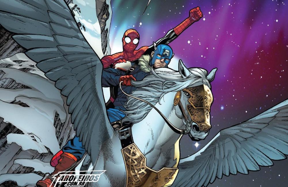 Outra Semana nos Quadrinhos #18 - War Of The Realms - Strikeforce - Land of Giants #1 - Homem Aranha - Capitão América - Blog Farofeiros
