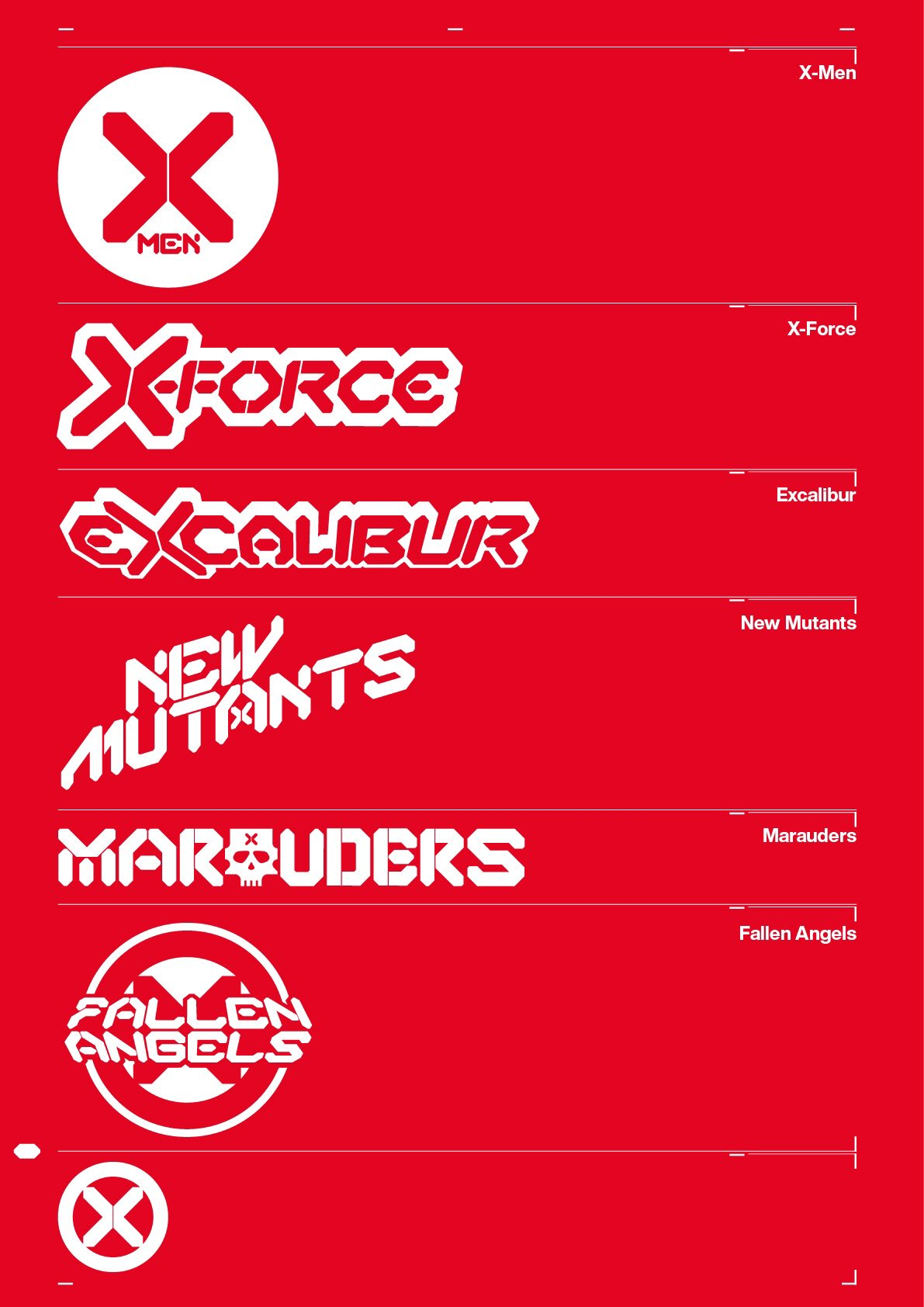 Marvel Comics na SDCC 2019 - X-Men - logos - Blog Farofeiros