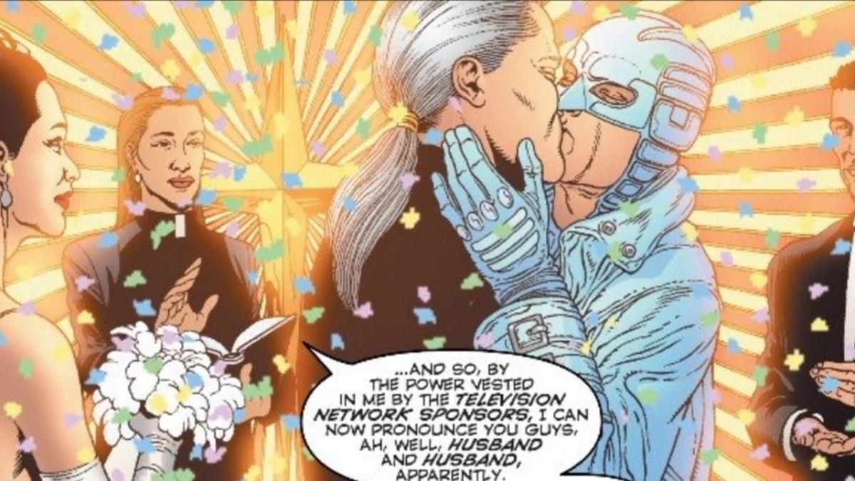 Apolo e Midnighter 1 - DC Comics - Beijo gay nas histórias em quadrinhos - Blog Farofeiros