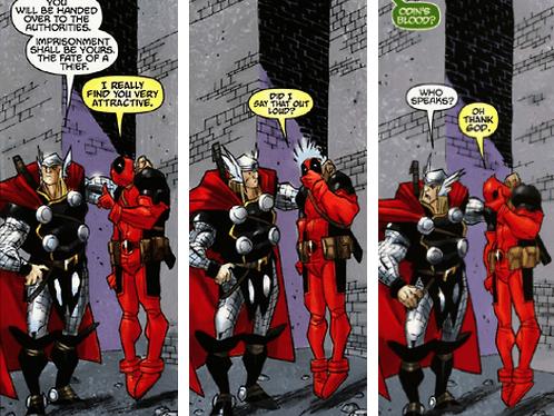 Deadpool - Thor - Marvel Comics - Beijo gay nas histórias em quadrinhos - Blog Farofeiros