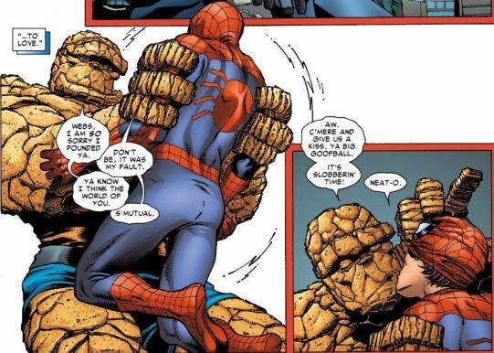 Homem Aranha - Coisa - Avenging Spider-Man Annual #1 - Marvel Comics - Beijo gay nas histórias em quadrinhos - Blog Farofeiros