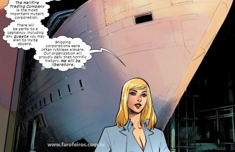 X-Men - O Diamante Vermelho - Barco - Rainha Branca