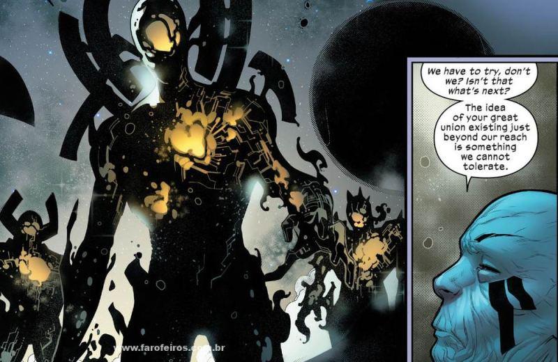 Ancião negociando com Falange - Homo Novissima - Powers of X - Poderes dos X - X-Men - Marvel Comics - Blog Farofeiros