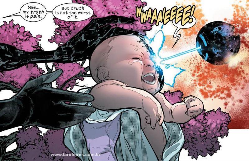 Bebê transformado em híbrido - Homo Novissima - Powers of X - Poderes dos X - X-Men - Marvel Comics - Blog Farofeiros