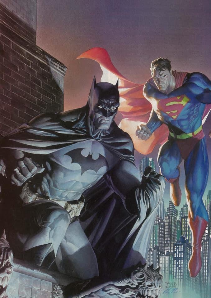 A arte de Alex Ross Batman - Superman - Jim Lee - Blog Farofeiros
