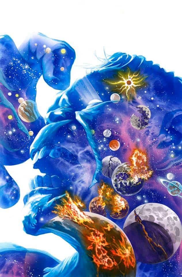 A arte de Alex Ross - Hulk cósmico - Blog Farofeiros