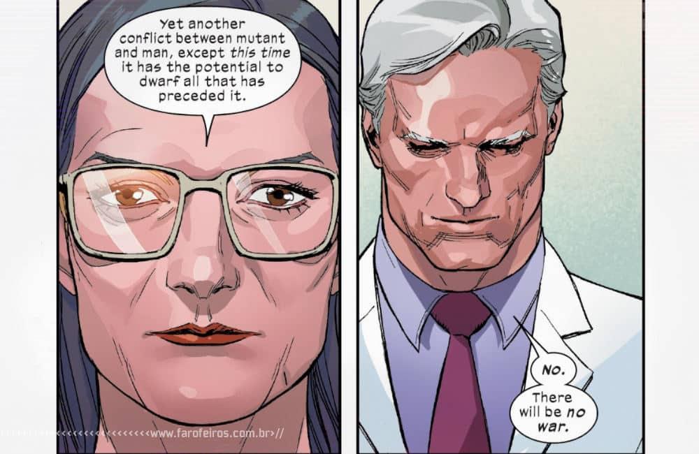 Política com Magneto em X-Men #4 - X-Men #4 - Não haverá guerra - Blog Farofeiros