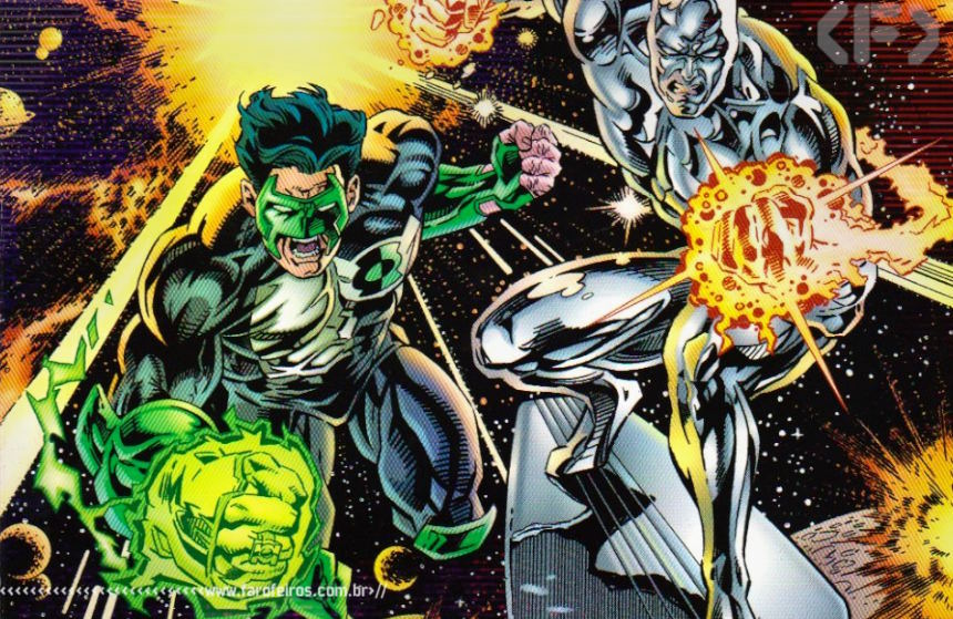Marvel Versus DC - Surfista Prateado - Lanterna Verde - Blog Farofeiros