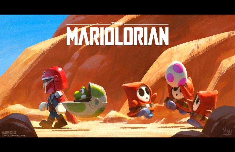 Mariolorian - Super Mario - Mandalorian - Star Wars - Blog Farofeiros